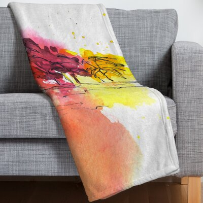 Golden Hue Throw Blanket