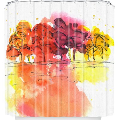 Golden Hue Shower Curtain