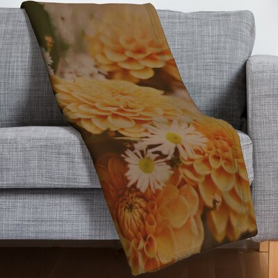 Leah Flores Autumn Floral Throw Blanket