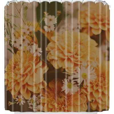 Leah Flores Autumn Floral Shower Curtain