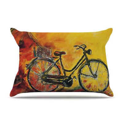 Josh Serafin To Go Bicycle Pillow Case