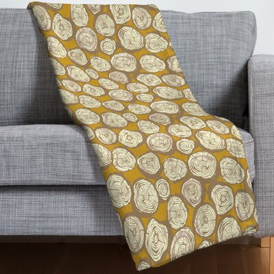 Sarah Watts Tree Rings Throw Blanket