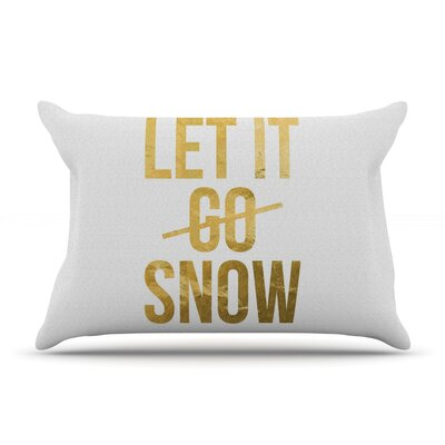 Let It Snow Typography Pillow Case