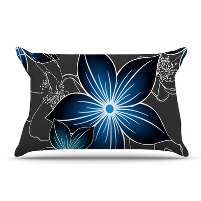 Alison Coxon Charcoal And Cobalt Pillow Case