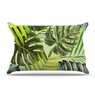 Alison Coxon Midnight Jungle Pillow Case Color: Green/Yellow