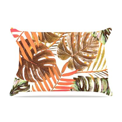 Alison Coxon Midnight Jungle Pillow Case Color: Orange/Brown