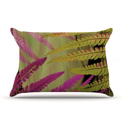 Alison Coxon Forest Fern Plant Pillow Case Color: Pink/Brown