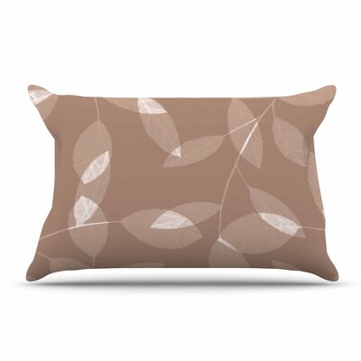 Alison Coxon Leaf Tawny Pillow Case Color: Brown/Beige