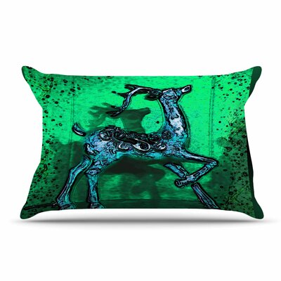 Anne LaBrie Dance On Pillow Case Color: Green/Blue