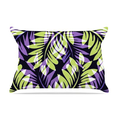 Alison Coxon Dark Fern Pillow Case Color: Green/Purple