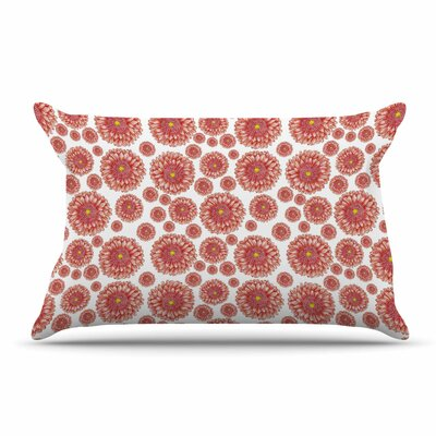 Alisa Drukman Orange Flowers Floral Pillow Case