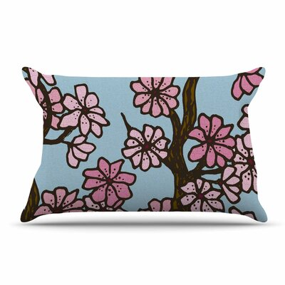 Art Love Passion Cherry Blossom Day Floral Illustration Pillow Case