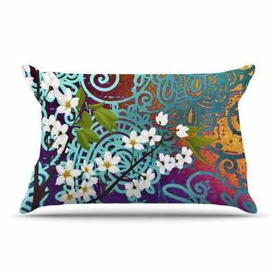 AlyZen Moonshadow Bird And Blossom Pillow Case