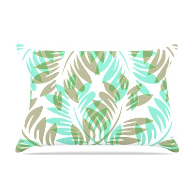 Alison Coxon Dark Fern Pillow Case Color: Green/Teal