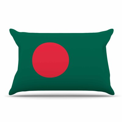 Bruce Stanfield Flag Of Bangladesh Digital Pillow Case