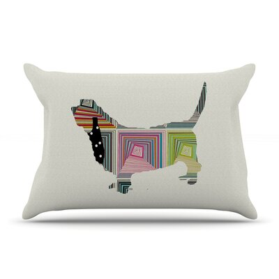 Bri Buckley Basset Rainbow Pillow Case
