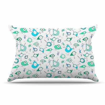 Anchobee Birdies Pillow Case