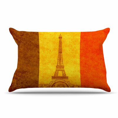 Bruce Stanfield Vintage Paris Mixed Media Travel Pillow Case