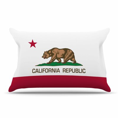 Bruce Stanfield California State Flag Pillow Case