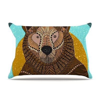Art Love Passion Bear In Grass Pillow Case