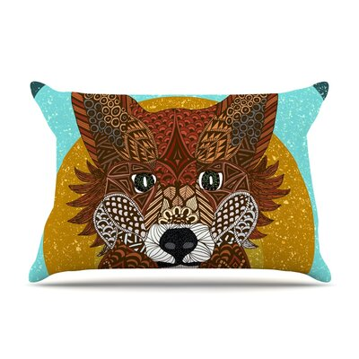 Art Love Passion Colored Fox Pillow Case