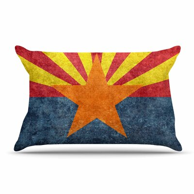Bruce Stanfield Arizona State Flag Retro Style Pillow Case