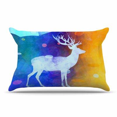 alyZen Moonshadow Rain Deer Pillow Case