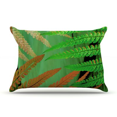Alison Coxon Forest Fern Plant Pillow Case Color: Green/Brown