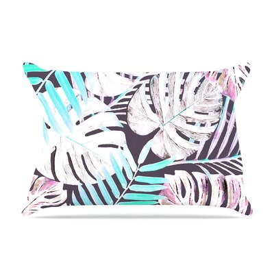 Alison Coxon Midnight Jungle Pillow Case Color: Pink/Blue