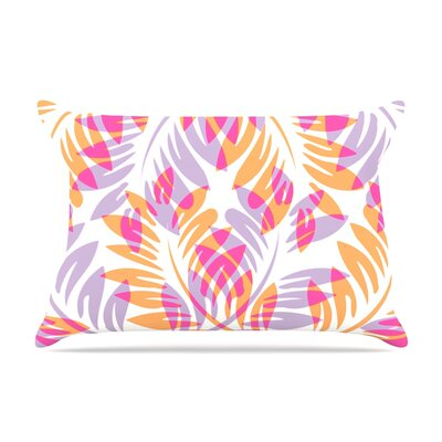 Alison Coxon Dark Fern Pillow Case Color: Pink/Orange