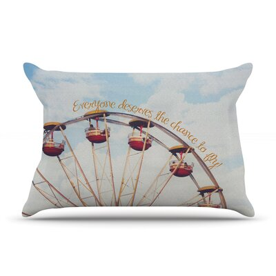 Beth Engel The Chance To Fly Ferris Wheel Pillow Case