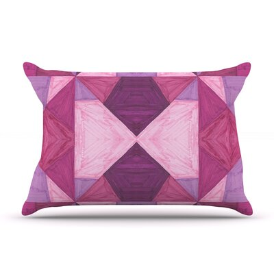 Empire Ruhl Purple Angles Geometric Pillow Case