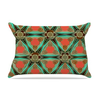 Alison Coxon Moorish Earth Pillow Case Color: Red/Teal