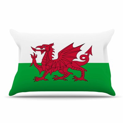 Bruce Stanfield Flag Of Wales - Authentic Fantasy Illustration Pillow Case