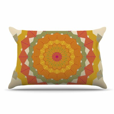 Angelo Cerantola Composition Pillow Case Color: Orange/Beige