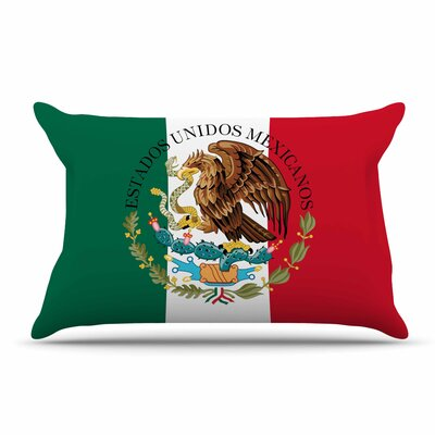 Bruce Stanfield Mexico Flag And Coat Of Arms Pillow Case