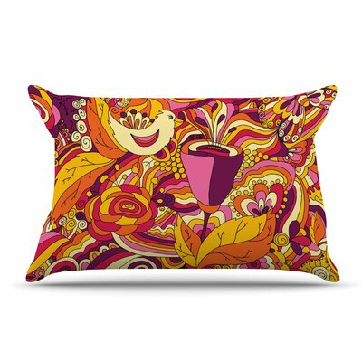 Alisa Drukman Birds In Garden 2 Abstract Pillow Case