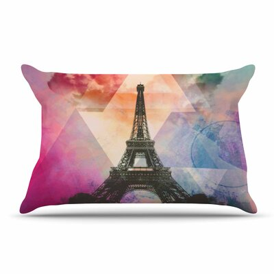 alyZen Moonshadow Eiffel Tower France Pillow Case