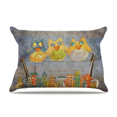 Carina Povarchik 'Lechuzas' Pillow Case