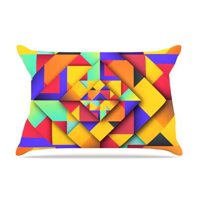 Danny Ivan 'Shapes Ii' Geometric Pillow Case
