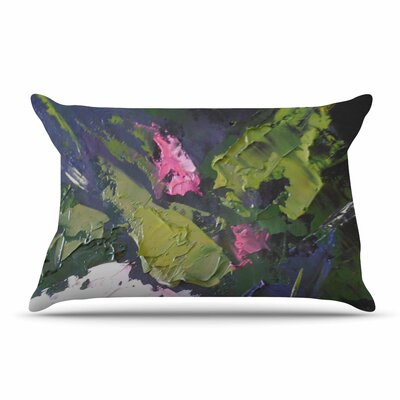 Carol Schiff Textured Rose Painting Pillow Case