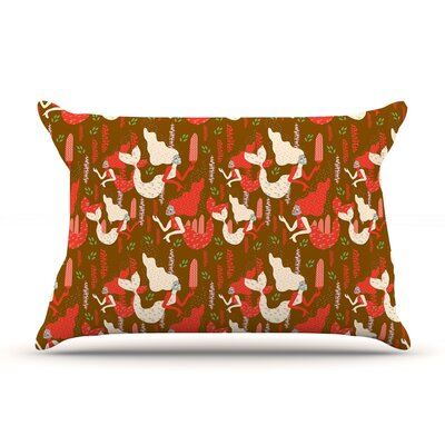 Akwaflorell Mermaids Pillow Case Color: Brown/Red