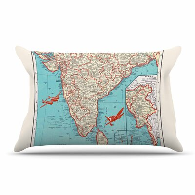 Catherine Holcombe Travel To India Pillow Case