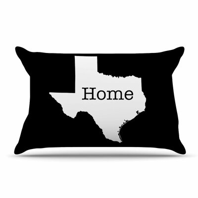 Bruce Stanfield Texas State Outline Pillow Case