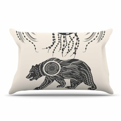 Famenxt Boho Ornate Bear Pillow Case