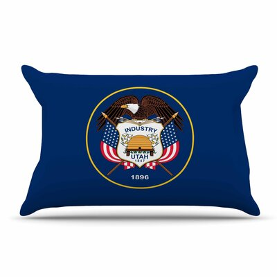 Bruce Stanfield Utah State Flag Authentic Pillow Case
