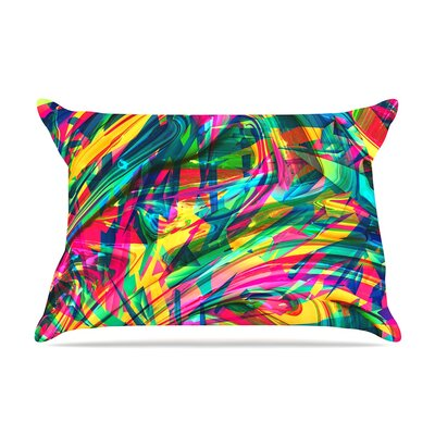 Danny Ivan 'Wild Abstract' Rainbow Illustration Pillow Case