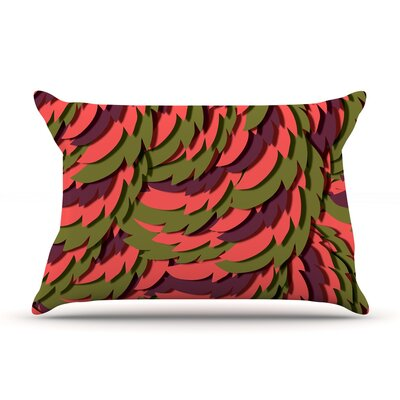 Akwaflorell Wings Pillow Case Color: Red/Maroon