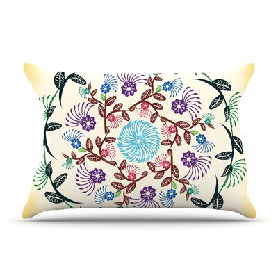 Famenxt Nature Mandala Pillow Case