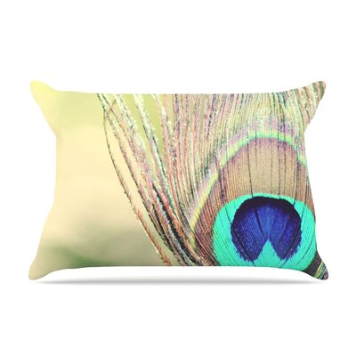 Beth Engel Sun Kissed Peacock Feather Pillow Case